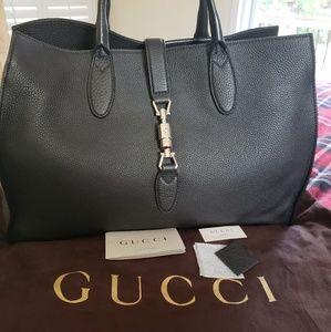 Gucci Medium Jackie O Soft Leather Tote